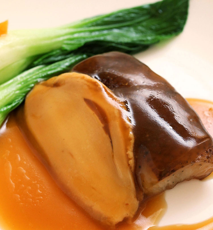 Braised Sliced Abalone with Sea Cucumber, 蚝皇鲍甫海参