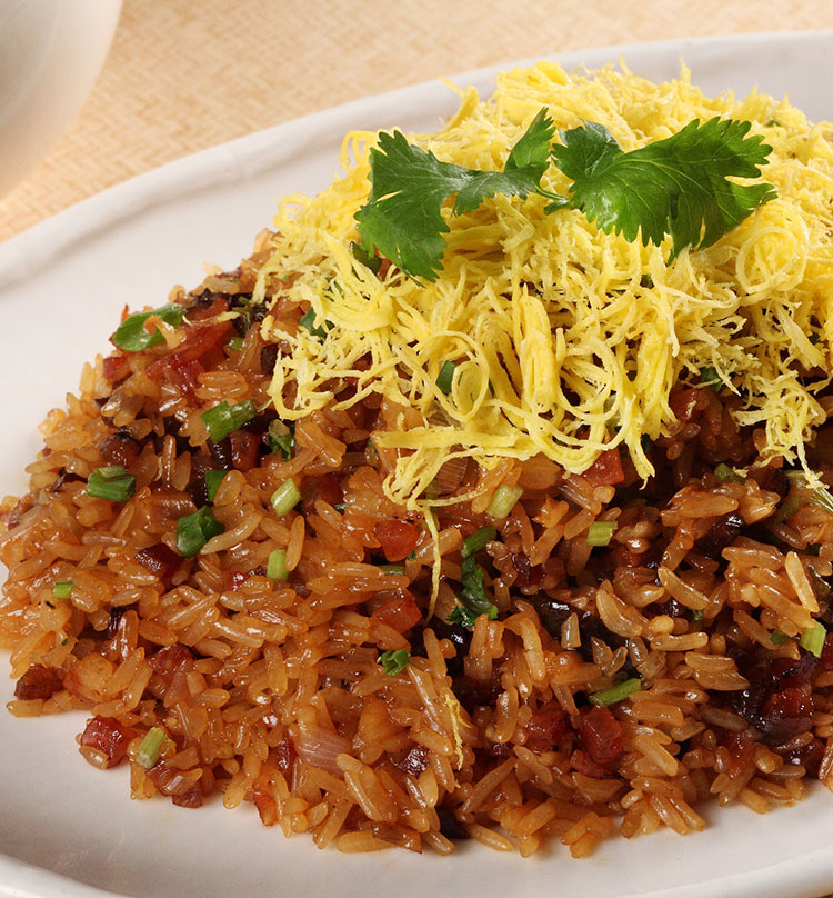 Fried Glutinous Rice with Waxed Meat, 生炒腊味糯米饭